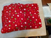 Christmas colored lap throw in Beaufort, South Carolina