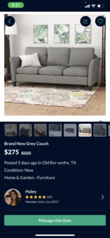 New couch in Baytown, Texas