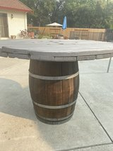 Wine barrel with large table top (57in) in Travis AFB, California