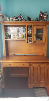 Solid wood desk with hutch in Westmont, Illinois