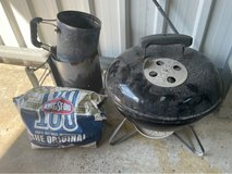 portable small Weber bbq in Okinawa, Japan