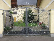Custom Luxury Wrought Iron Driveway Gates in Bellaire, Texas