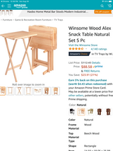 Solid Wood Tray Table Set in Las Cruces, New Mexico