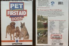 Dog Emergency First Aid DVD - SEALED!! in Glendale Heights, Illinois