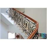 Classic Wrought Iron Stair Railing For Luxury Projects in Bellaire, Texas