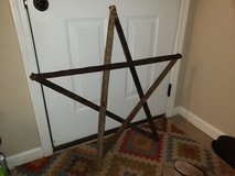 Wooden star in Fort Campbell, Kentucky
