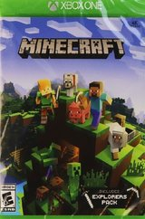 MINECRAFT XBOX ONE includes EXPLORER PACK in like new condition in Joliet, Illinois