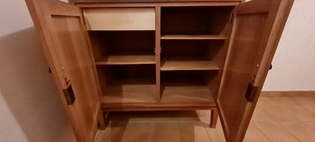 Hand-made, high-quality 2-door oak cabinet in Spangdahlem, Germany