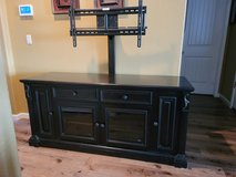 Wood Entertainment Console with built in TV Mount in Travis AFB, California