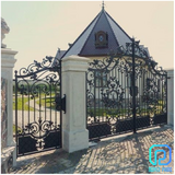 Wrought Iron Gates With Manual And Automatic Functions in Bellaire, Texas