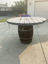 Wine barrel with large table top(57in) in Travis AFB, California