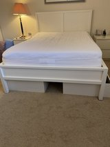 IKEA full bed frame with two storage boxes in Brookfield, Wisconsin