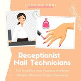 HIRING Receptionist and Nail Technicians ???????????????? in Okinawa, Japan