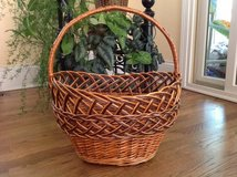 Basket, Decorative Willow Basket, Easter Basket, Willow Wicker Basket in Great Lakes, Illinois