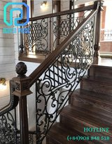 Elegant and Vintage Interior Wrought Iron Railings for Stairs in Bellaire, Texas