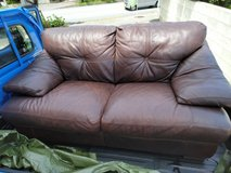 Leather couch in Okinawa, Japan