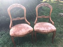 Pair Carved Balloon Back Chairs in Glendale Heights, Illinois
