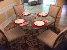 Round Glass Top Table Reduced Big! in Beaufort, South Carolina