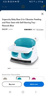Ingenuity baby base 2 -in-1 booster seat in Beaufort, South Carolina