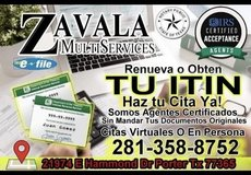 Itin renewals in Spring, Texas