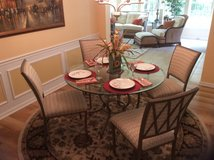 Kitchen/Dining Room Glass Top Table in Beaufort, South Carolina