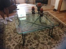 Pair of Glass Top Tables in Beaufort, South Carolina