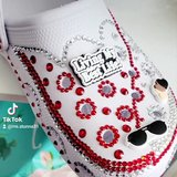 Women  bedazzled bling shoes size 8/9 in Savannah, Georgia