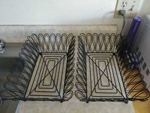 2 Matching WROUGHT IRON Fruit/Bread BASKETS in Travis AFB, California