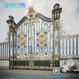 OEM Custom Vintage Wrought Iron Main Gate, Driveway Gate in Bellaire, Texas
