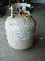 """EMPTY 17.5 Sz LPG Propane Tank for Outdoor Grill w/Valve Safety Plug 15"""" tall in Westmont, Illinois"""