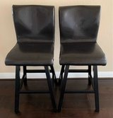 NOAH CHOCOLATE SWIVEL LEATHER BARSTOOLS(3 AVAILABLE) in Bellaire, Texas