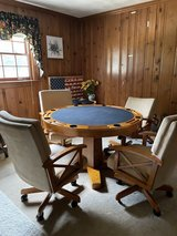 Poker Table and Chairs in Richmond, Virginia