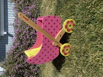 Wooden toy baby stroller in Travis AFB, California