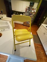 CHILD SIZE Folding Padded CHAIR Yellow for TODDLER Ages 3+ for ART DESK VANITY or ANY OTHER USE.... in Brookfield, Wisconsin