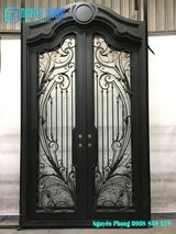 Luxury Single Or Double Wrought Iron Entry Doors in Bellaire, Texas