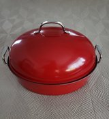 NEW - Large  Roasting Pan w/Rack and Lid in Okinawa, Japan