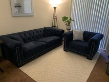 Royal Blue Macy's Sofa and Armchair in Travis AFB, California