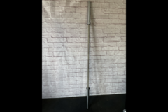 Bolt Thrasher Nickel Plated 1500 lb Barbell (barely used) in Bellaire, Texas