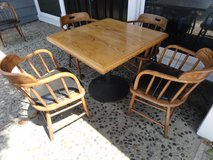 Table and 4 Captains's Chairs, restaurant furniture, quality, wood in Camp Pendleton, California