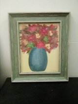 Oil painting of flowers in a vase in Roseville, California
