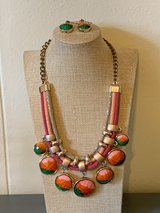 Necklace and earrings set in Okinawa, Japan