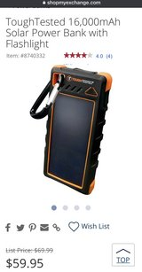 Power Bank ToughTested 16,000mAh  with Flashlight in Okinawa, Japan
