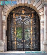 Galvanized wrought iron entry doors - The most elegant designs in Bellaire, Texas