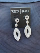 White/Black Oval Drop Earrings in Vacaville, California