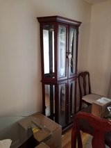 cabinet with glass doors. in Vacaville, California