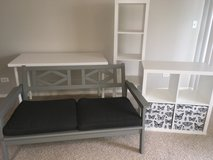 Like New! IKEA Loveseat, desk, shelves-Students? Bring truck or disassemble in Algonquin, Illinois