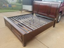 Porter King Storage Sleigh Bed, Cherry in Fort Campbell, Kentucky