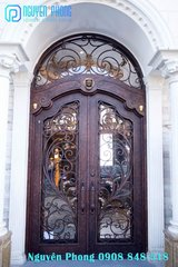 Handcrafted Classic Wrought Iron Entry Doors in Bellaire, Texas