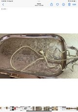 vintage electric warming tray silver plate in Brookfield, Wisconsin
