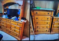 Wide Dresser with vanity mirror and tall dresser in Camp Lejeune, North Carolina